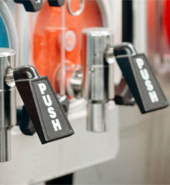 Slush machine levers